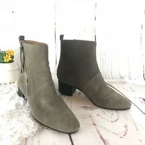 Banana Republic taupe ankle boots